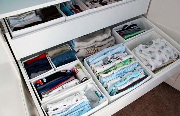 Consejos para organizar los cajones del bebe